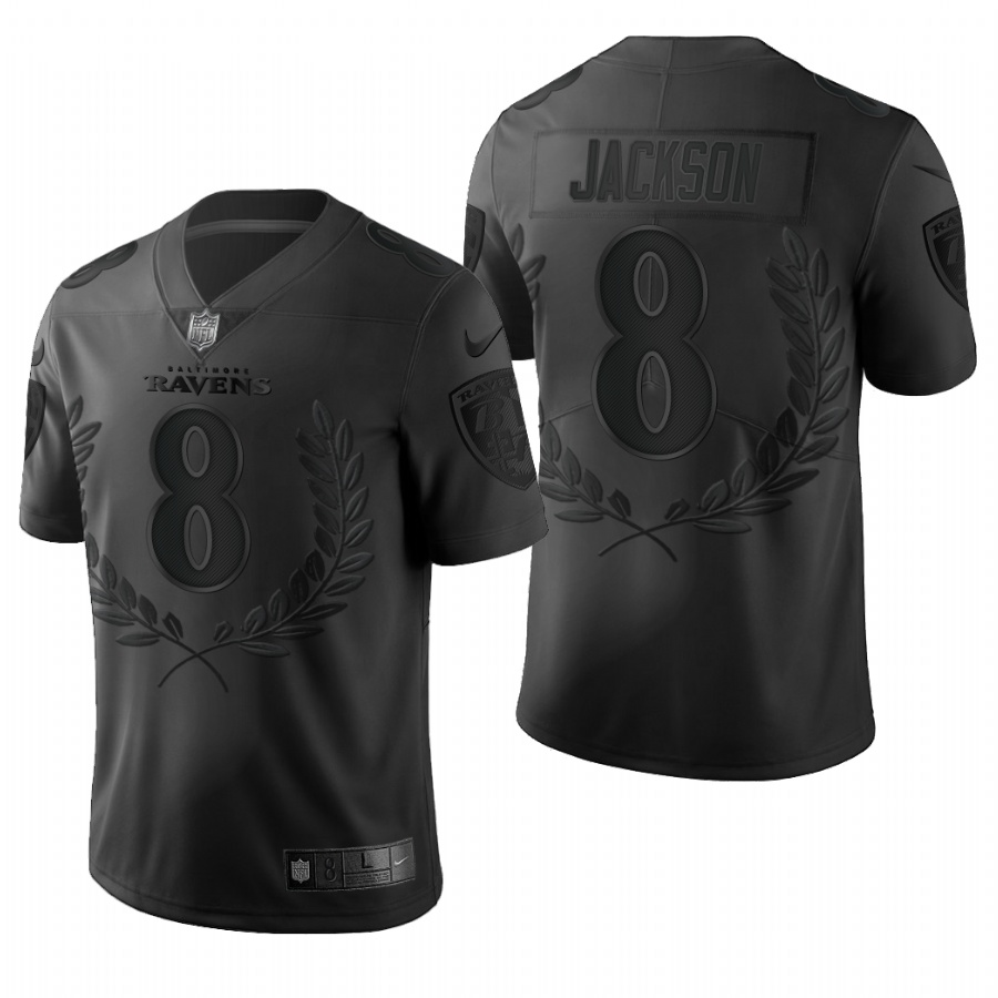 Nike Ravens 8 Lamar Jackson Black Commemorative Edition Vapor Untouchable Limited Jersey