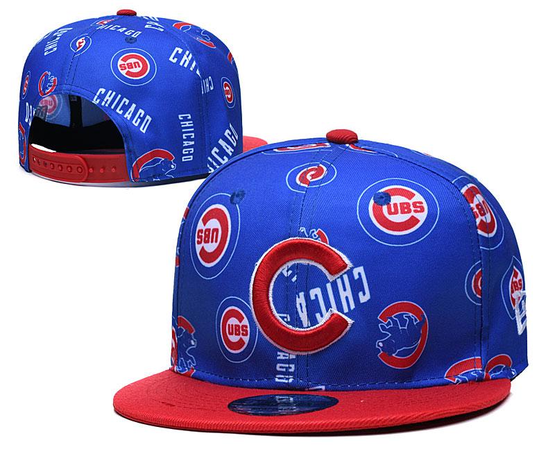 Cubs Team Logos Royal Red Adjustable Hat TX