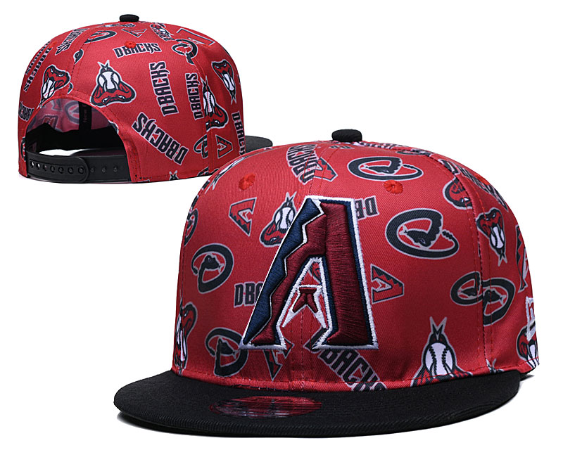 Diamondbacks Team Logos Red Black Adjustable Hat TX