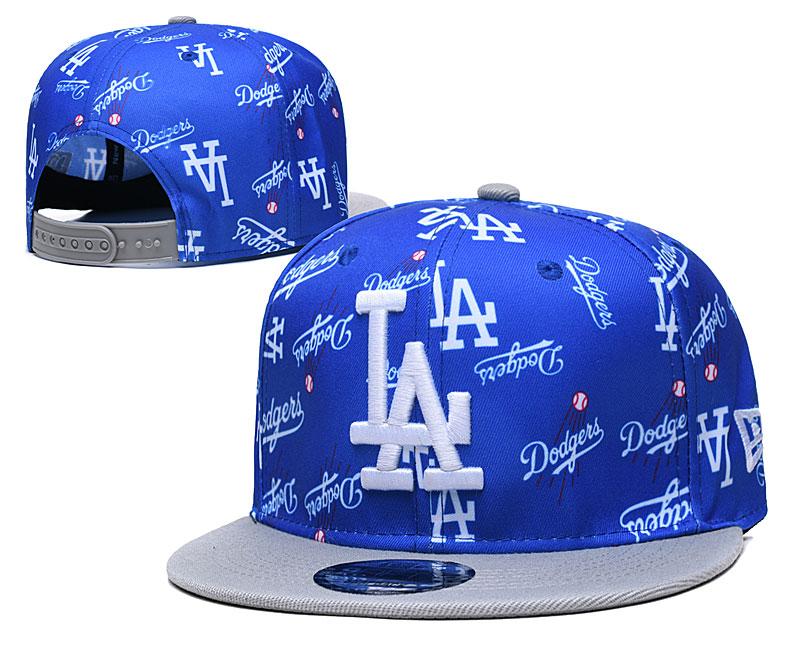 Dodgers Team Logos Royal Gray Adjustable Hat TX