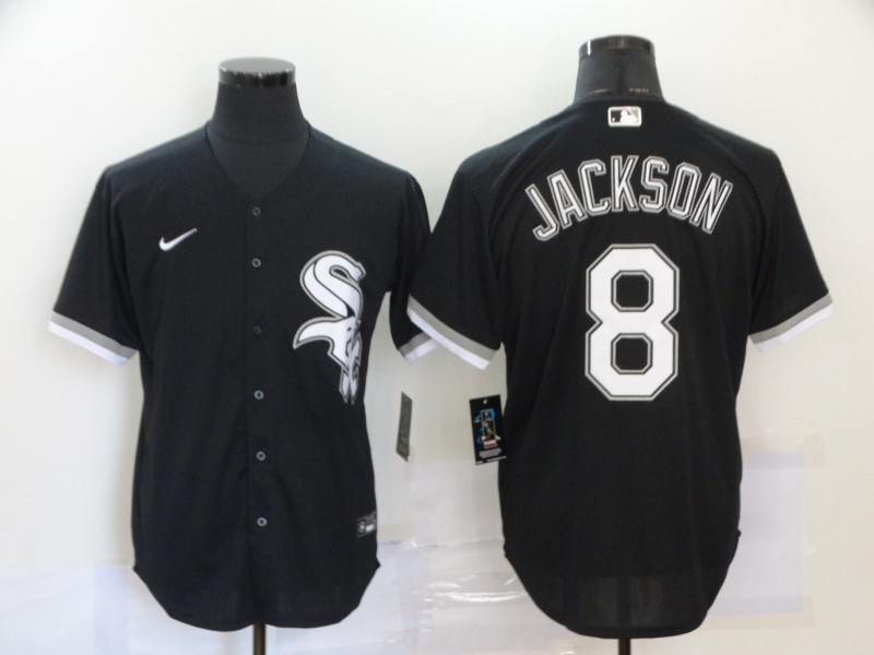 White Sox 8 Bo Jackson Black 2020 Nike Cool Base Jersey