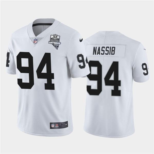Nike Raiders 94 Carl Nassib White 2020 Inaugural Season Vapor Untouchable Limited Jersey