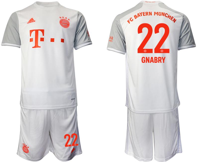 2020-21 Bayern Munich 22 GNABRY Away Soccer Jersey