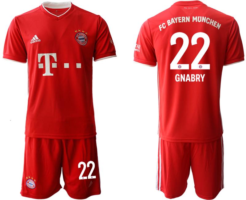 2020-21 Bayern Munich 22 GNABRY Home Soccer Jersey