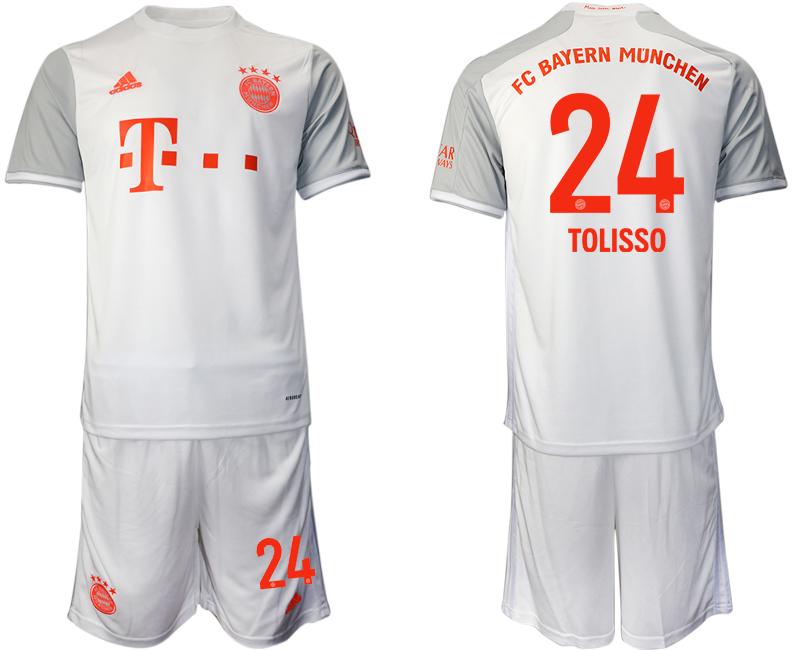 2020-21 Bayern Munich 24 TOLISSO Away Soccer Jersey