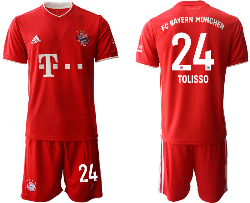 2020-21 Bayern Munich 24 TOLISSO Home Soccer Jersey