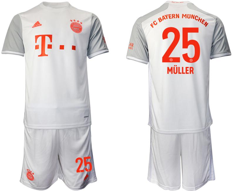 2020-21 Bayern Munich 25 MULLER Away Soccer Jersey