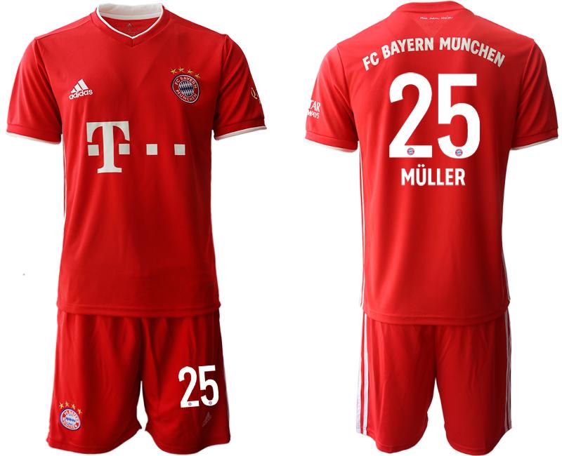 2020-21 Bayern Munich 25 MULLER Home Soccer Jersey