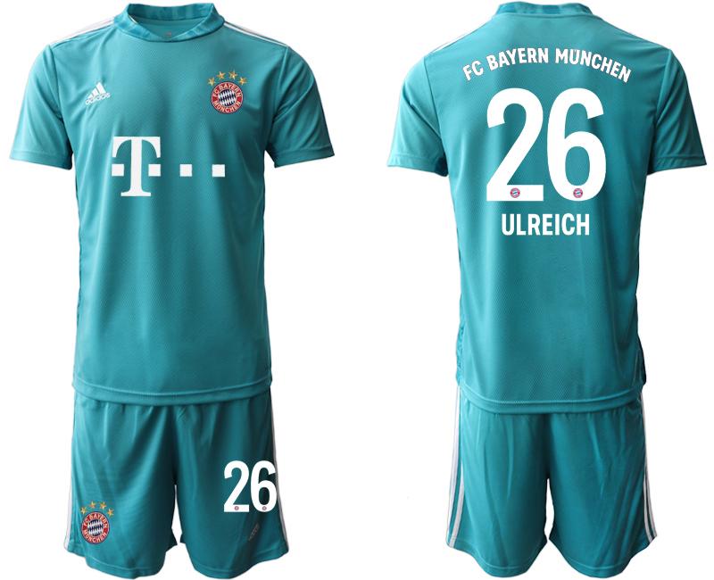 2020-21 Bayern Munich 26 ULREICH Blue Goalkeeper Soccer Jersey