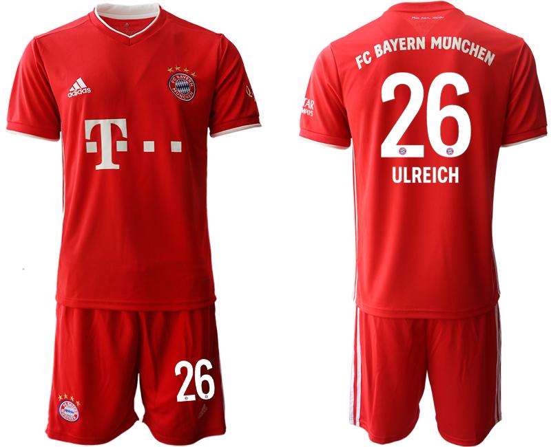 2020-21 Bayern Munich 26 ULREICH Home Soccer Jersey