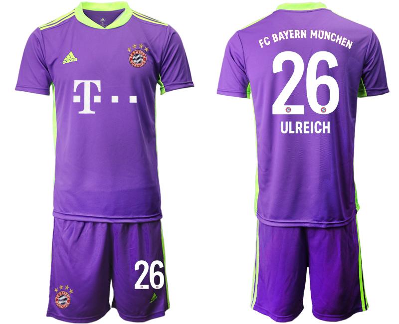 2020-21 Bayern Munich 26 ULREICH Purple Soccer Jersey