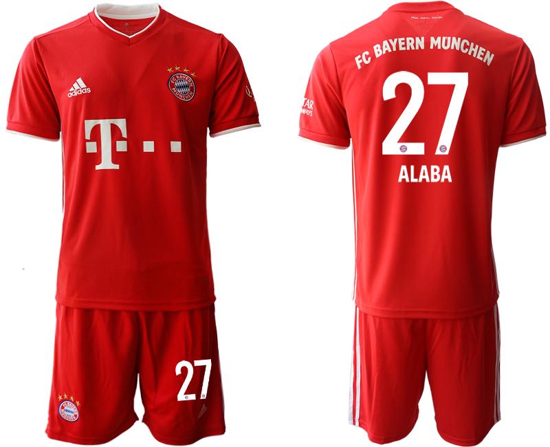2020-21 Bayern Munich 27 ALABA Home Soccer Jersey