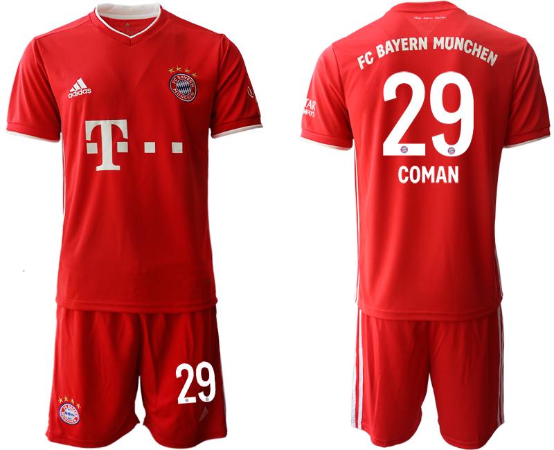 2020-21 Bayern Munich 29 COMAN Home Soccer Jersey