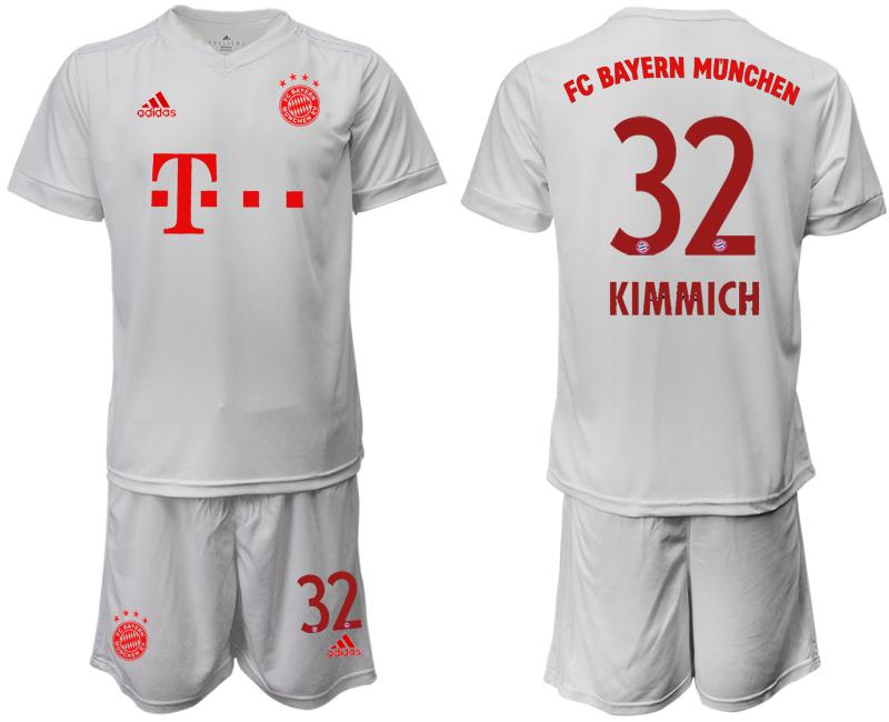 2020-21 Bayern Munich 33 KIMMICH Away White Soccer Jersey