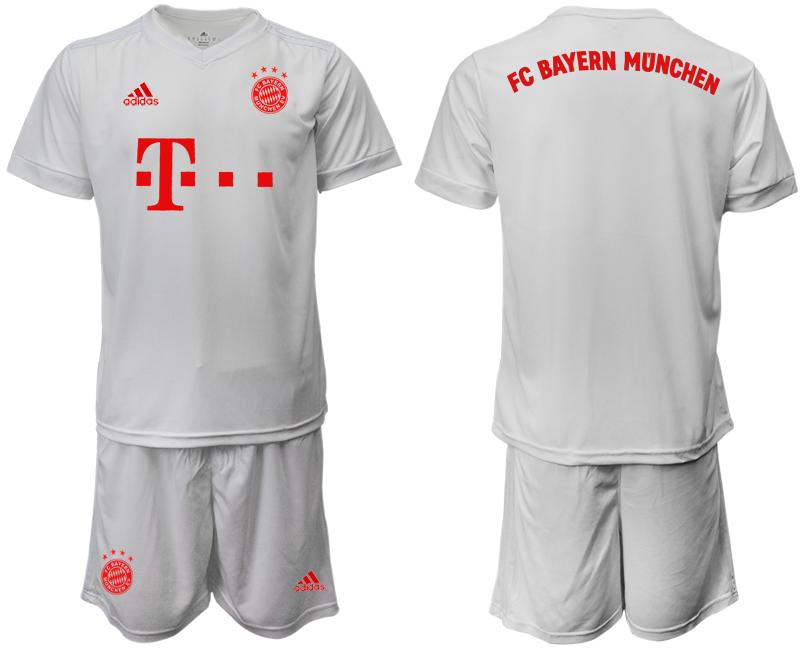 2020-21 Bayern Munich Away White Soccer Jersey