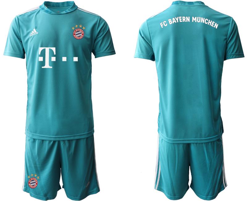 2020-21 Bayern Munich Blue Goalkeeper Soccer Jersey