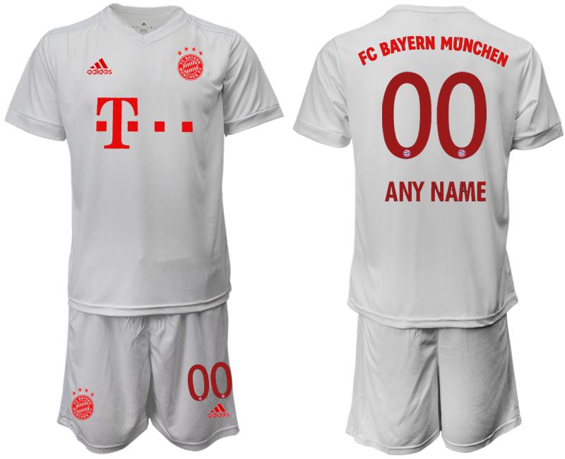 2020-21 Bayern Munich Customized White Away Soccer Jersey