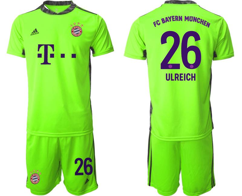2020-21 Bayern Munich Fluorescent 26 ULREICH Green Soccer Jersey