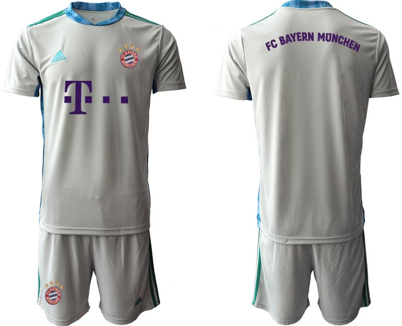 2020-21 Bayern Munich Gray Goalkeeper Soccer Jersey