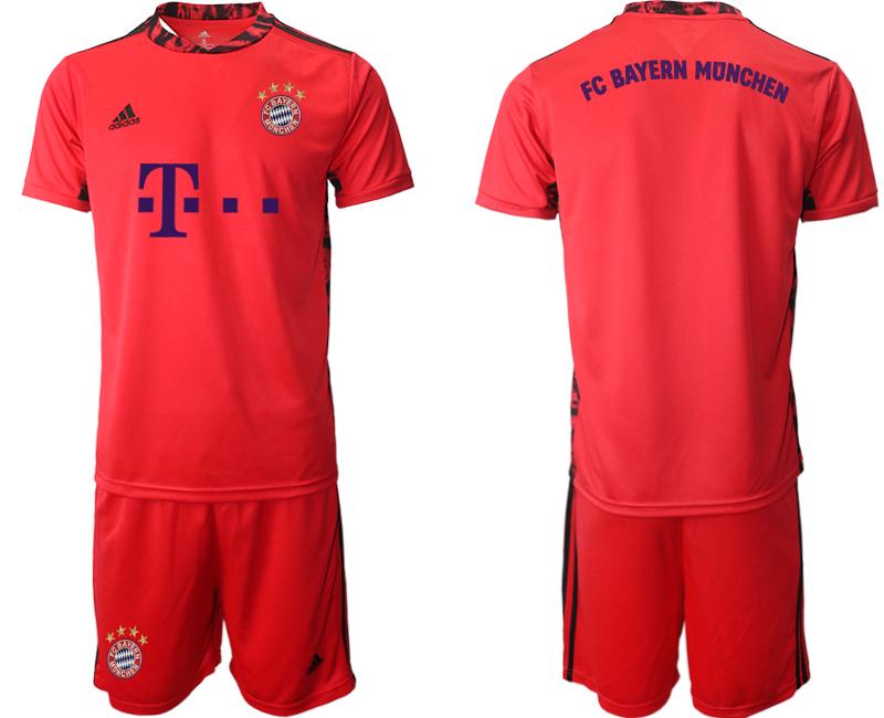 2020-21 Bayern Munich Red Goalkeeper Soccer Jersey