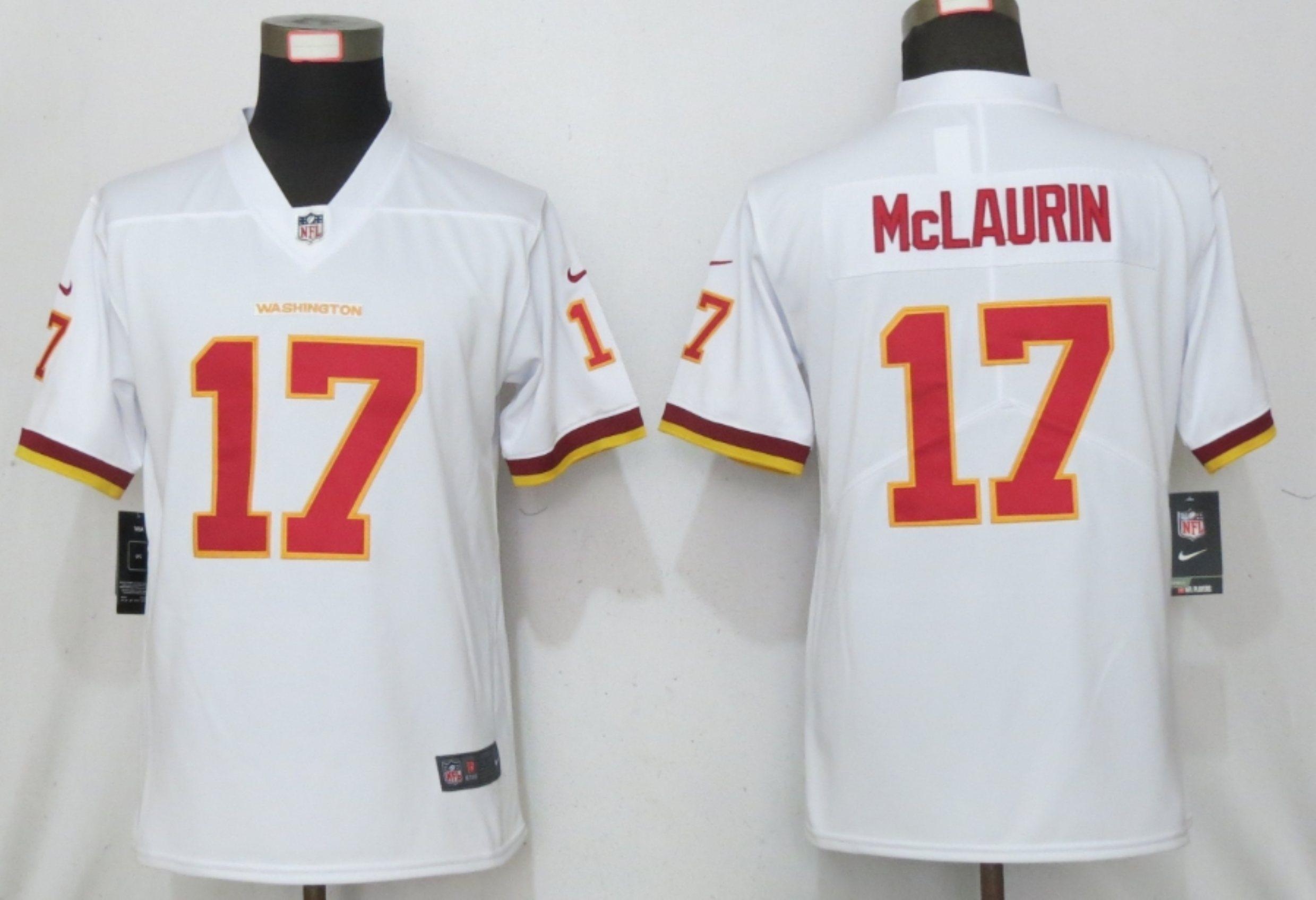 Nike Washington Football Team 17 Terry McLaurin White Women Vapor Untouchable Limited Jersey