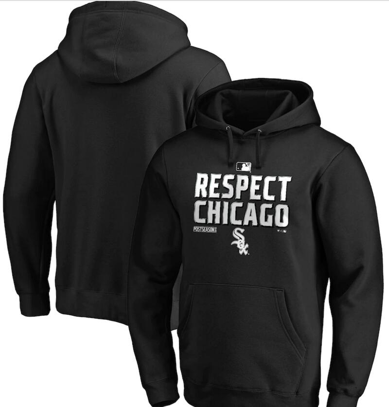 Men's Chicago White Sox Black 2020 Postseason Collection Pullover Hoodie