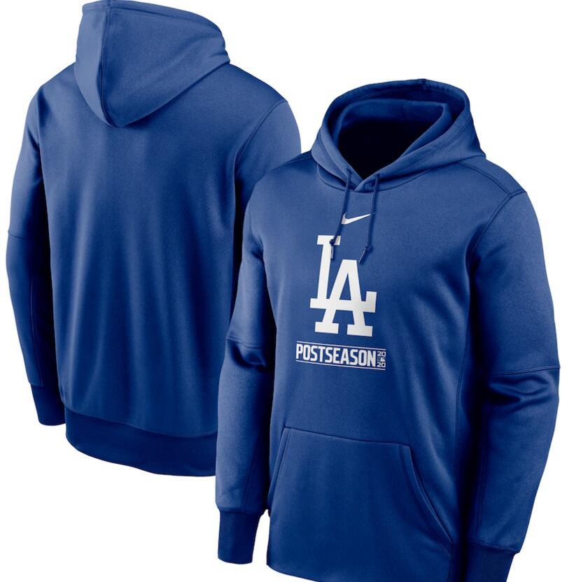 Men's Los Angeles Dodgers Nike Royal 2020 Postseason Collection Pullover Hoodie