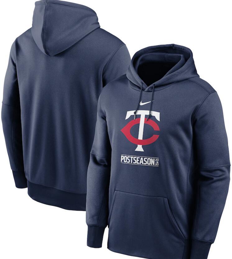 Men's Minnesota Twins Nike Navy 2020 Postseason Collection Pullover Hoodie