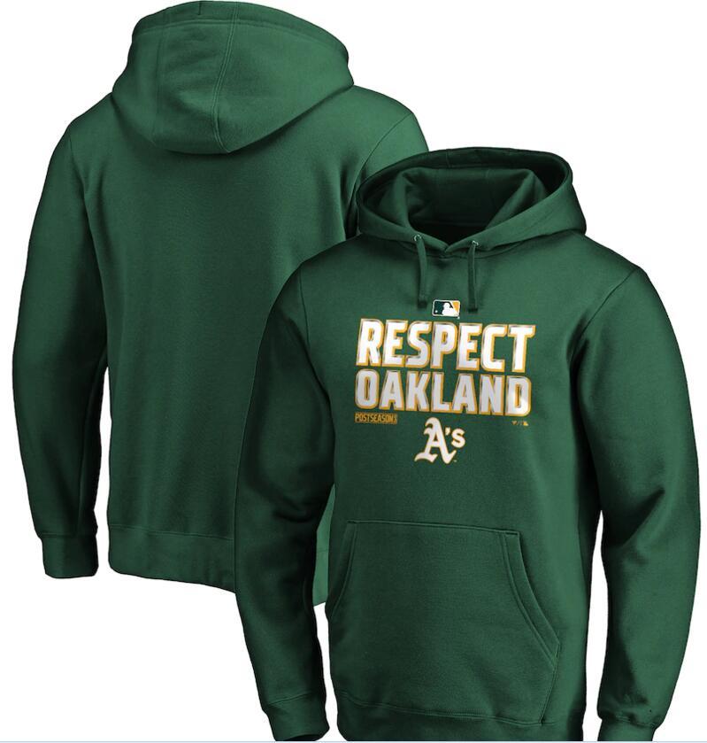 Men's Oakland Athletics Green 2020 Postseason Collection Pullover Hoodie