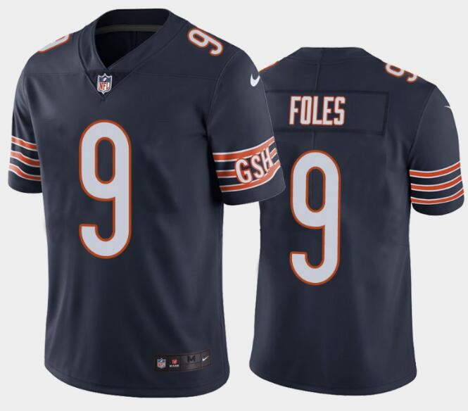 Nike Bears 9 Nick Foles Navy Vapor Untouchable Limited Jersey
