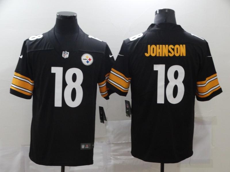 Nike Steelers 18 Diontae Johnson Black Vapor Untouchable Limited Jersey