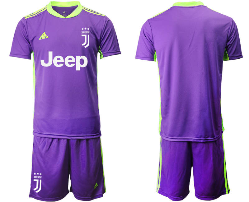 2020-21 Juventus Purple Goalkeeper Soccer Jersey