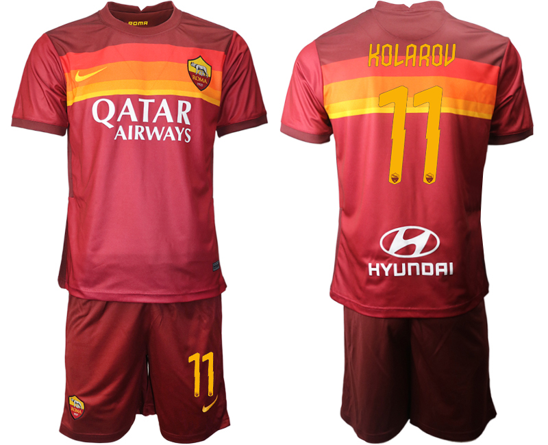 2020-21 Roma 11 KOLAROU Home Soccer Jersey