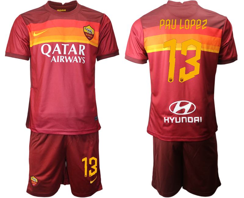 2020-21 Roma 13 PAU LOPEZ Home Soccer Jersey