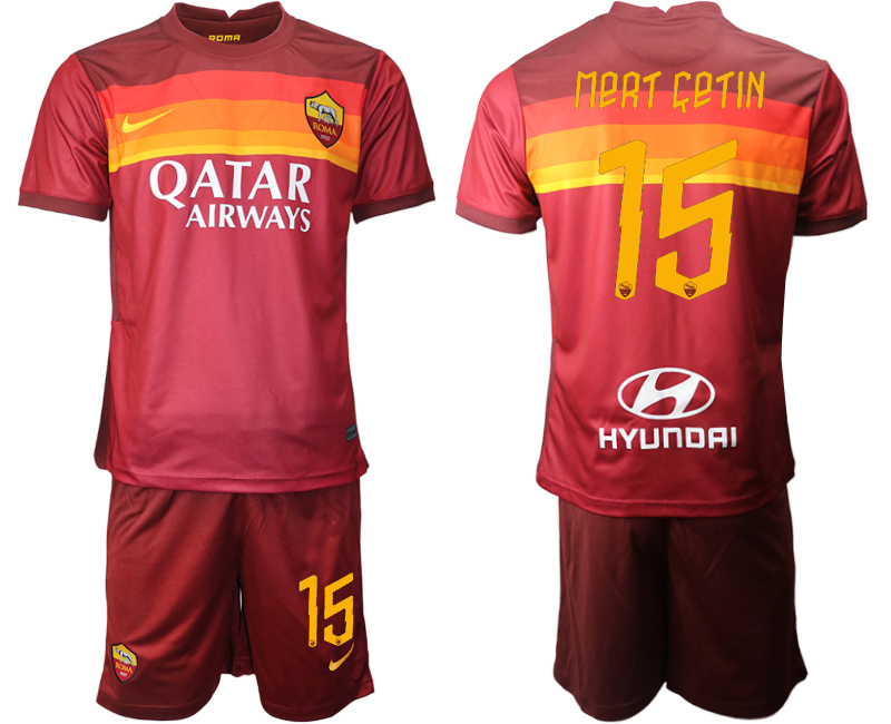 2020-21 Roma 15 MERT CETIN Home Soccer Jersey