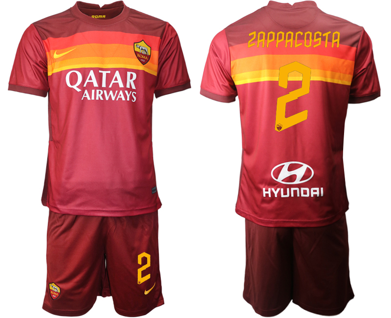 2020-21 Roma 2 ZAPPACOSTA Home Soccer Jersey