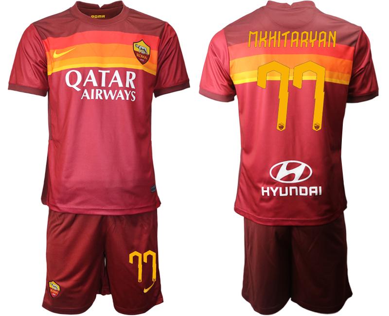 2020-21 Roma 77 MKHITARYAN Home Soccer Jersey