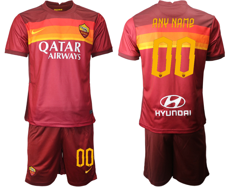 2020-21 Roma Customized Home Soccer Jersey