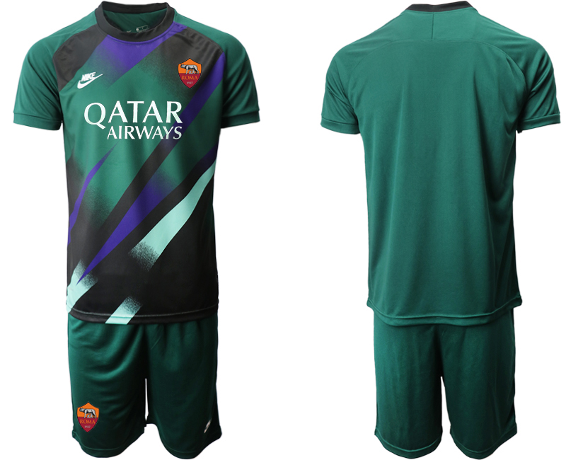 2020-21 Roma Dark Green Goalkeeper Soccer Jersey