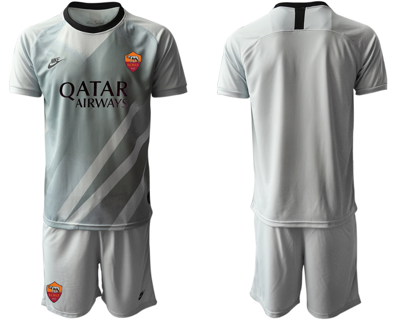 2020-21 Roma Gray Goalkeeper Soccer Jersey