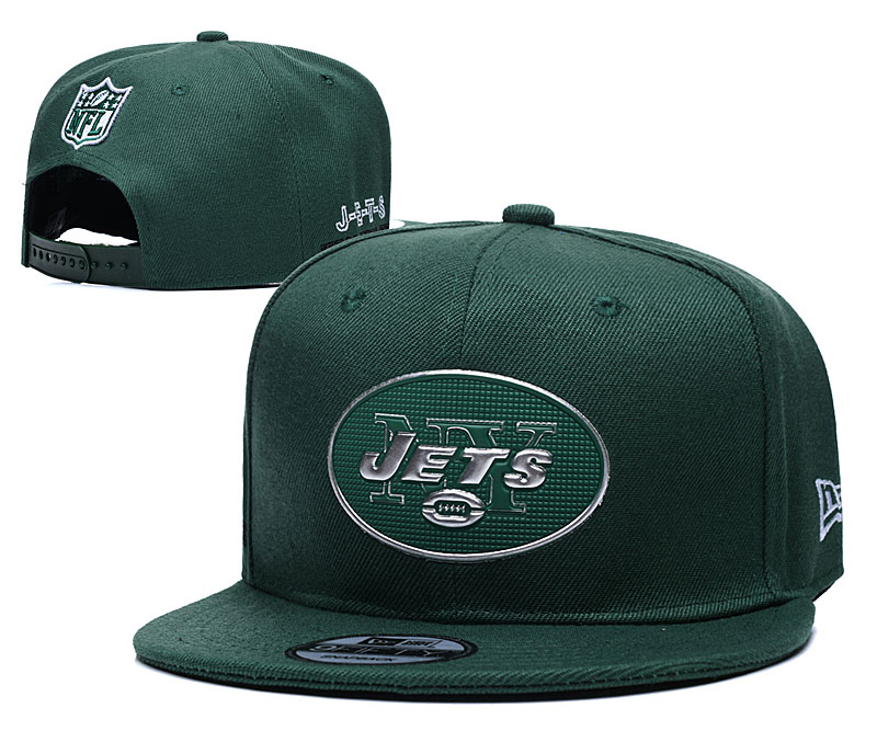 Jets Team Logo Green Adjustable Hat YD