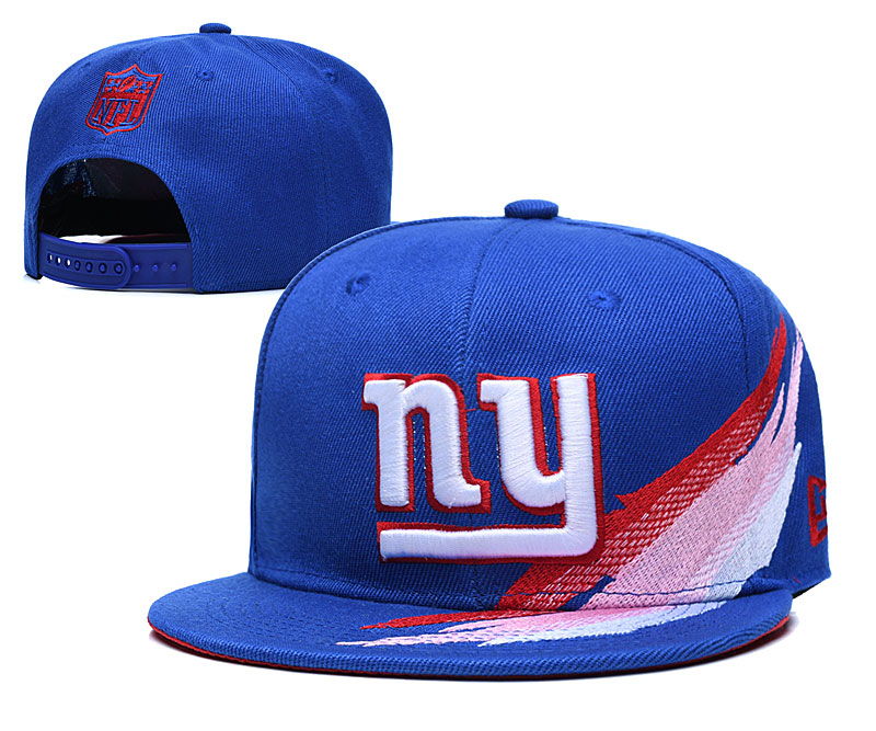 New York Giants Team Logo Royal Adjustable Hat YD