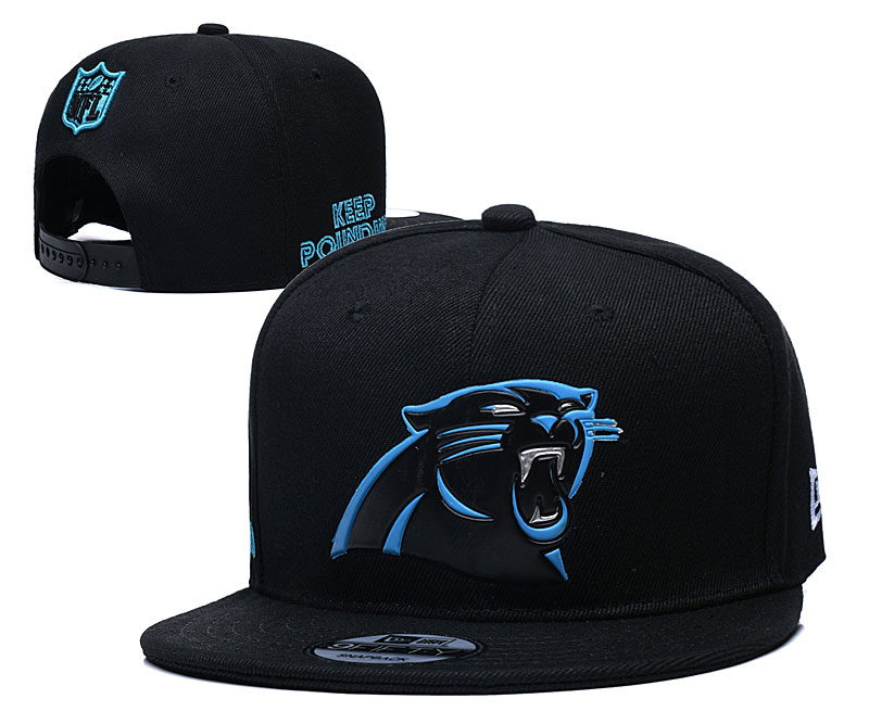 Panthers Team Logo Black Adjustable Hat YD