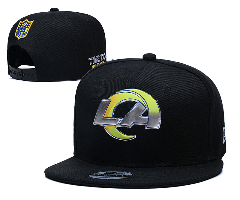 Rams Team Logo Black Adjustable Hat YD