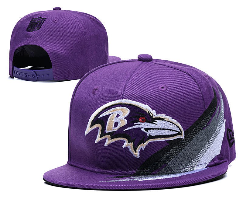 Ravens Team Logo Purple Adjustable Hat YD