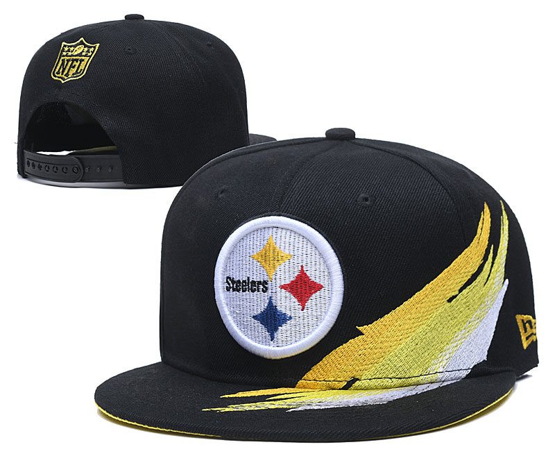 Steelers Team Logo Black Adjustable Hat YD