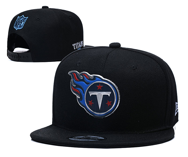 Titans Team Logo Black Adjustable Hat YD