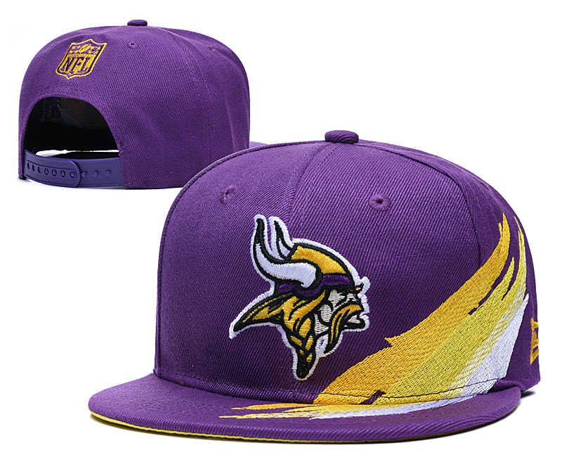 Vikings Team Logo Purple Adjustable Hat YD