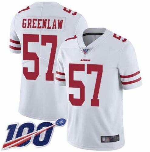 Nike 49ers 57 Dre Greenlaw White 100th Season Vapor Untouchable Limited Jersey