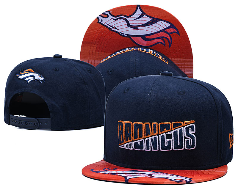 Broncos Team Logo Navy 2020 NFL Summer Sideline Adjustable Hat YD
